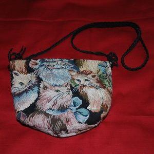 Cute Tapestry Cat Purse